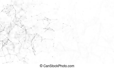 Plexus abstract network background Animation of a growing network