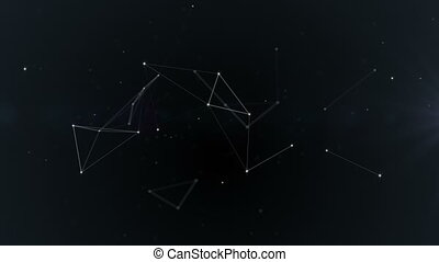 Plexus. Abstract network connection background. Space, constellation, galaxy. Loop Animation.