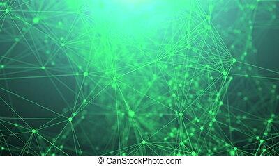 plexus, abstract, technologie, netwerk, fantasie