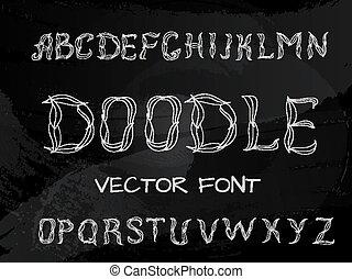 Plexus chalk hand drawing alphabet - Plexus chalk hand...
