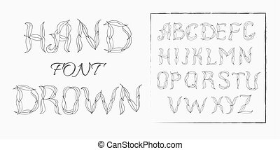 Plexus chalk hand drawing alphabet - Plexus hand drawing...