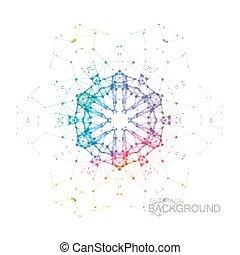 Plexus Iridescent Geometric Wreath. - Plexus Iridescent...