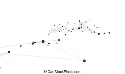 Plexus of abstract lines, triangles and dots