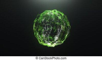 plexus, résumé, balle, vert, virus