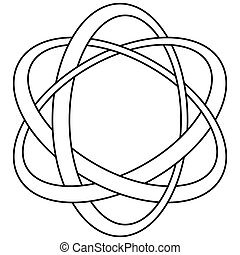 Plexus rings symbol celtic style. Stamp for Silver jewelry