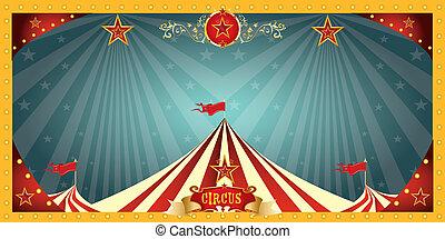 plezier, circus, spandoek