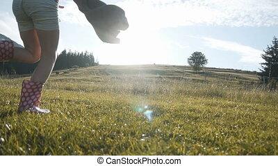 plezier, geitjes, hebben, vrolijke