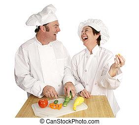 plezier, in de keuken