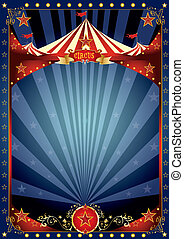 plezier, nacht, circus, poster