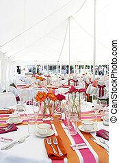 plezier, tafels, funky, trouwfeest