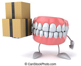 plezier, teeth