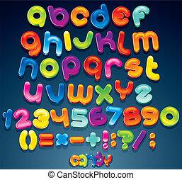 plezier, versuikeren, lettertype