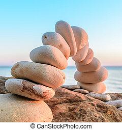 plié, voûte pierre