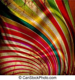 pliegues, rayos de sol, grunge, multicolor, plano de fondo