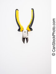 Pliers cutter or Pliers on a background. - Pliers cutter or...