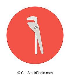 pliers flat icon