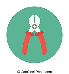 pliers flat icon
