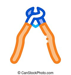 pliers icon vector outline illustration