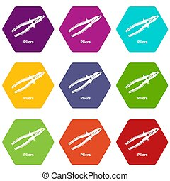 Pliers icons set 9