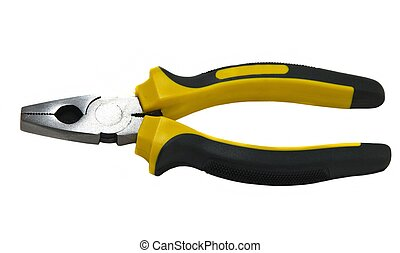 Pliers isolated on white background