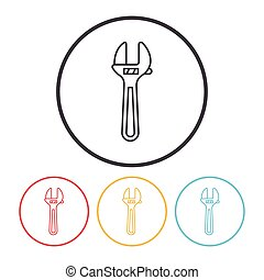 Pliers line icon