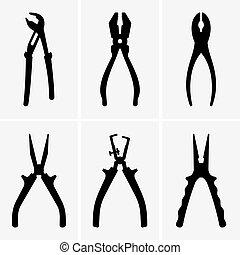 Pliers - Set of six pliers