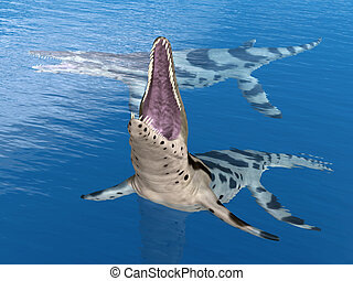 Pliosaur Kronosaurus - Computer generated 3D illustration...