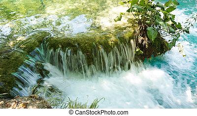 plitvice, 호수, 물, 폭포