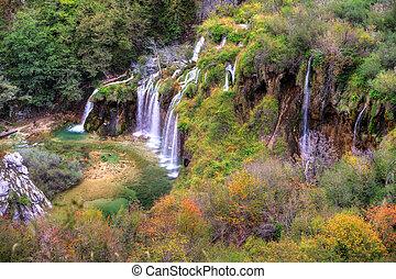 Plitvice autumn falls