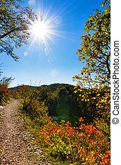 Plitvice autumn sun