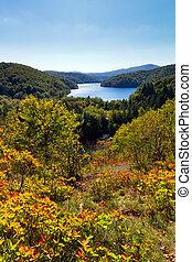 Plitvice autumn view