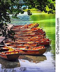 plitvice, Barcos, nacional, parque