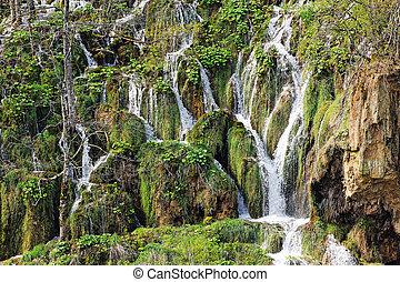plitvice, cascate, in, croazia