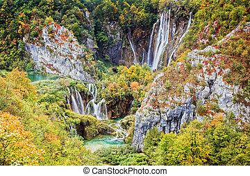 plitvice, croazia, parco nazionale, laghi