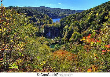 Plitvice fall waterfall