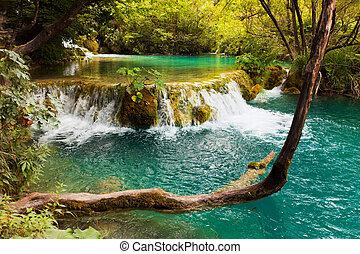 plitvice, horvátország, tavak