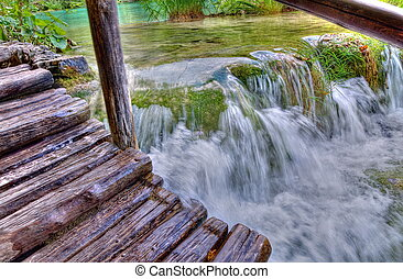 plitvice, kroatien, nationalpark, seen