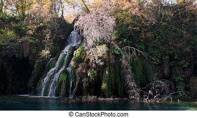 plitvice, lacs, automne