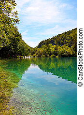 plitvice, laghi, parco nazionale, in, croazia