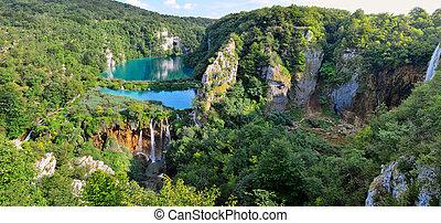 plitvice, laghi, -, parco nazionale, in, croazia