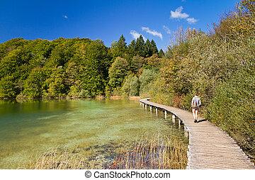 Plitvice lake path