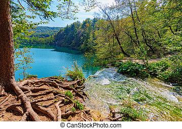 Plitvice lake waterfall