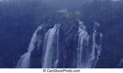 Plitvice lakes national park in Croatia - early morning....