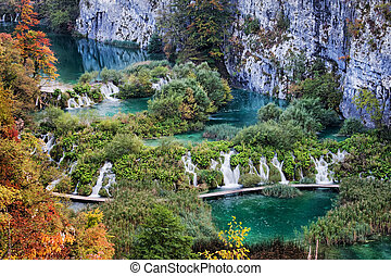 Plitvice Lakes National Park Landscape in Croatia