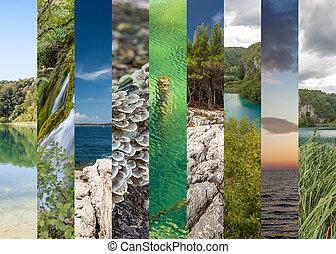 Plitvice lakes of Croatia - national park in autumn