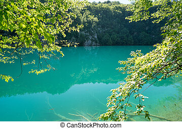 Plitvice lakes of Croatia - national park in summer