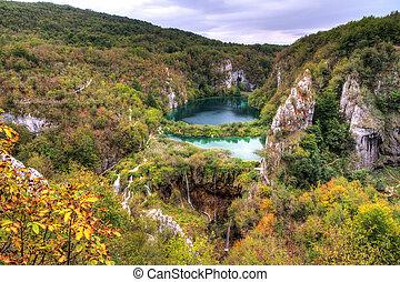 Plitvice lakes panorama