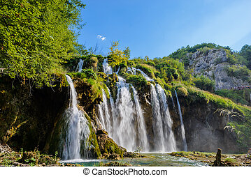 plitvice, liget, nemzeti, horvátország