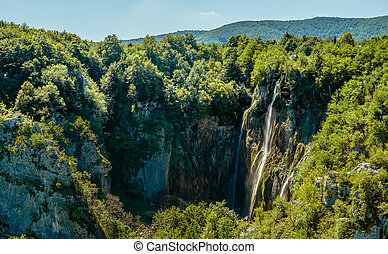 plitvice, nacional, parque, lagos, cachoeiras