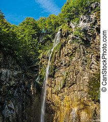 Plitvice National Park, Croatia - the Big Waterfall,